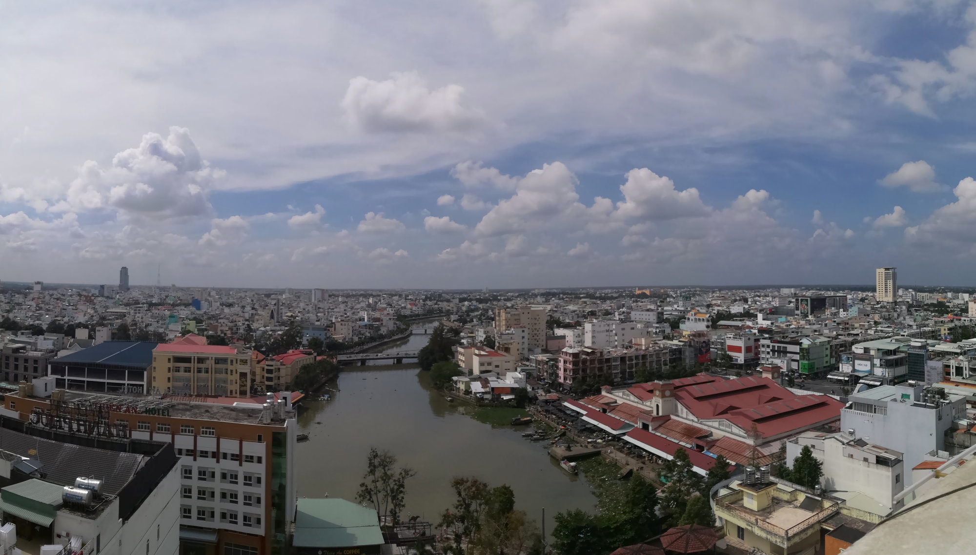 Panorama Can Tho im Mekong-Delta, Vietnam