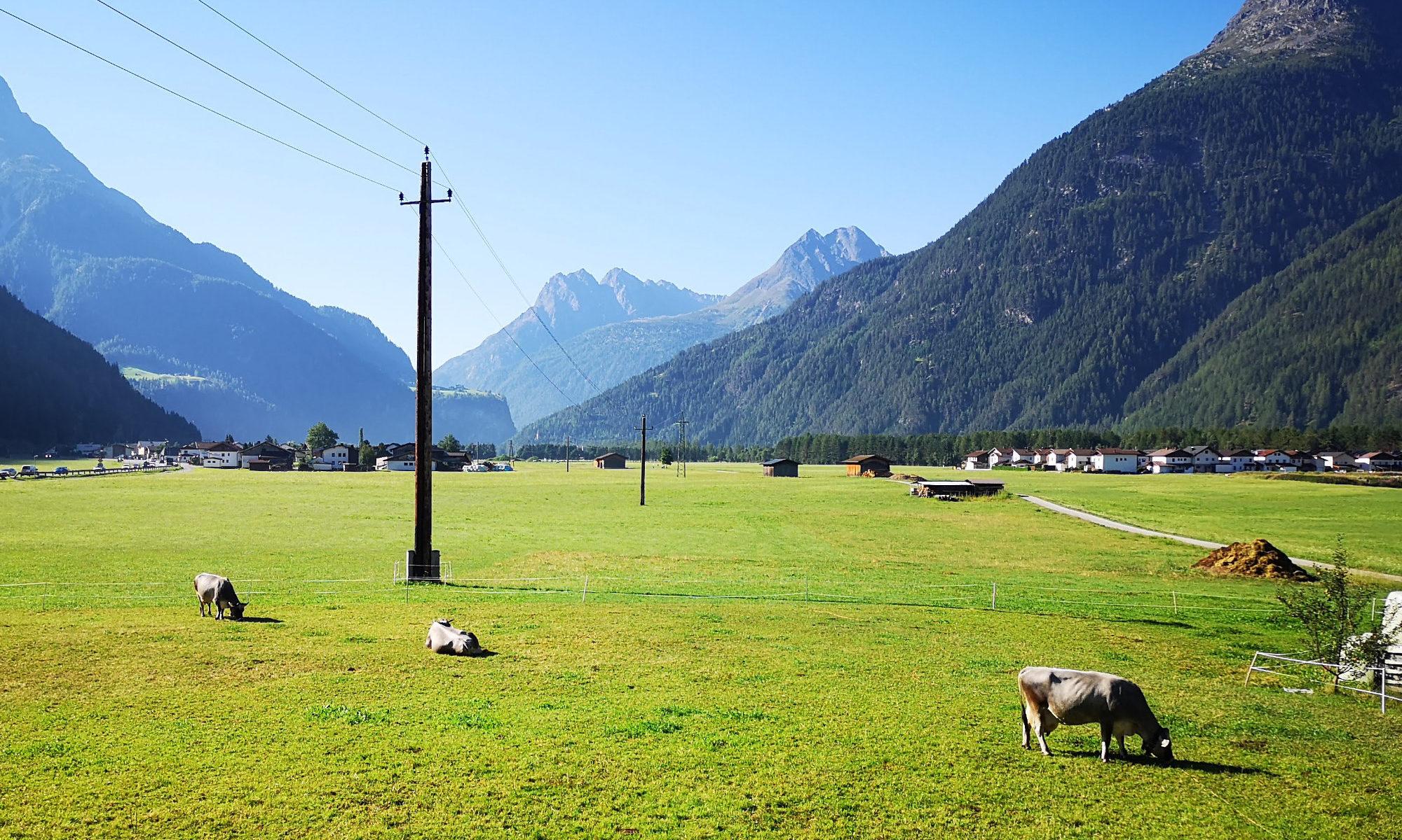 Ötztal: Au bei Längenfeld auf dem Honzar-Hof im Sommer 2018.