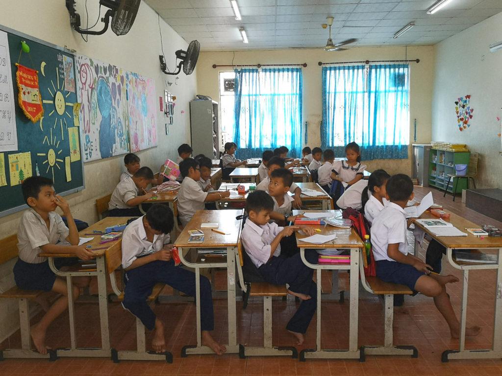 Enfants à l'école de la Maison Chance, Ho Chi Minh City, Vietnam