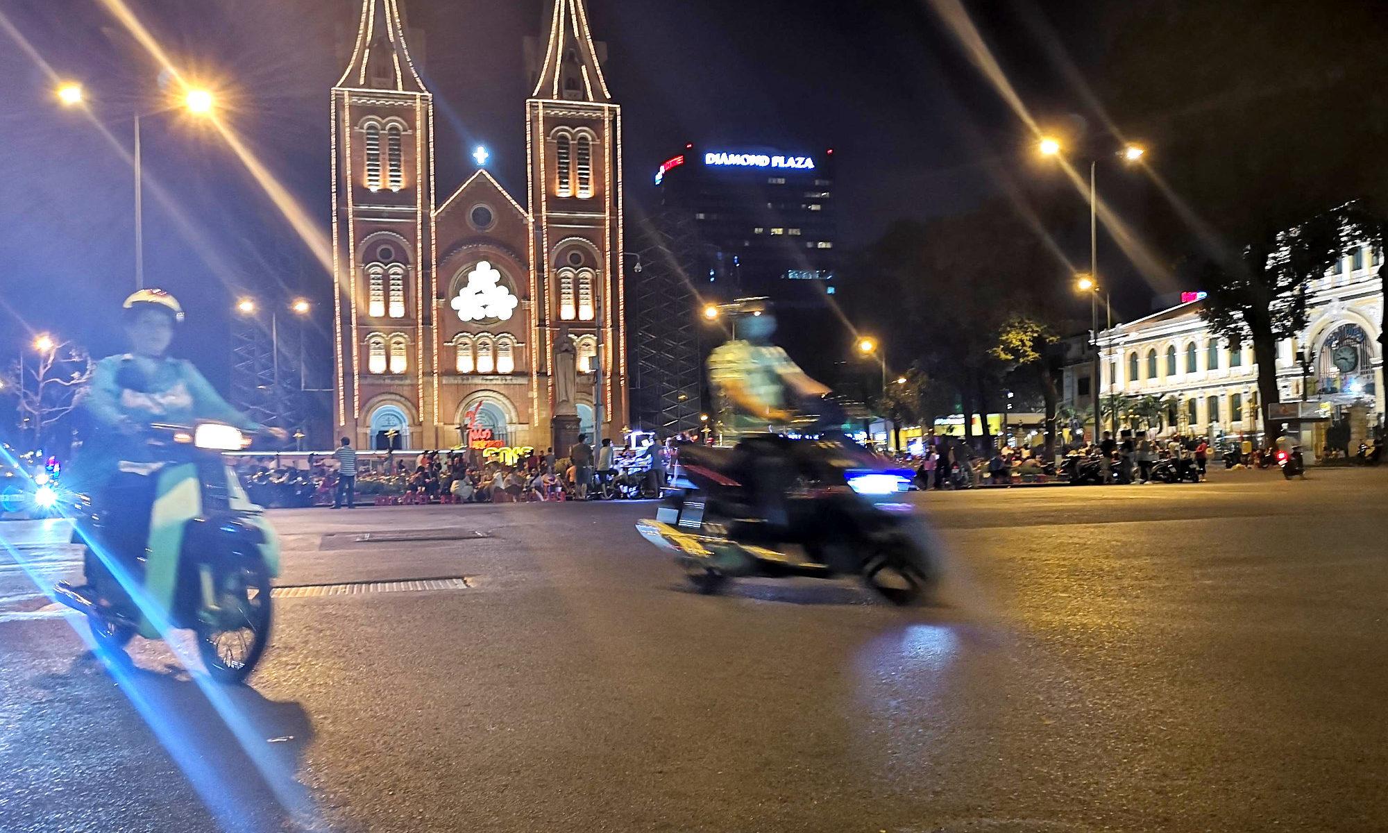 Notre Dame und alte Post, Kolonialgebäude von Saigon (HCMC)